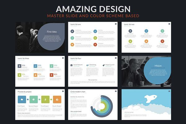 Click | Powerpoint template by Zacomic Studios on @creativemarket