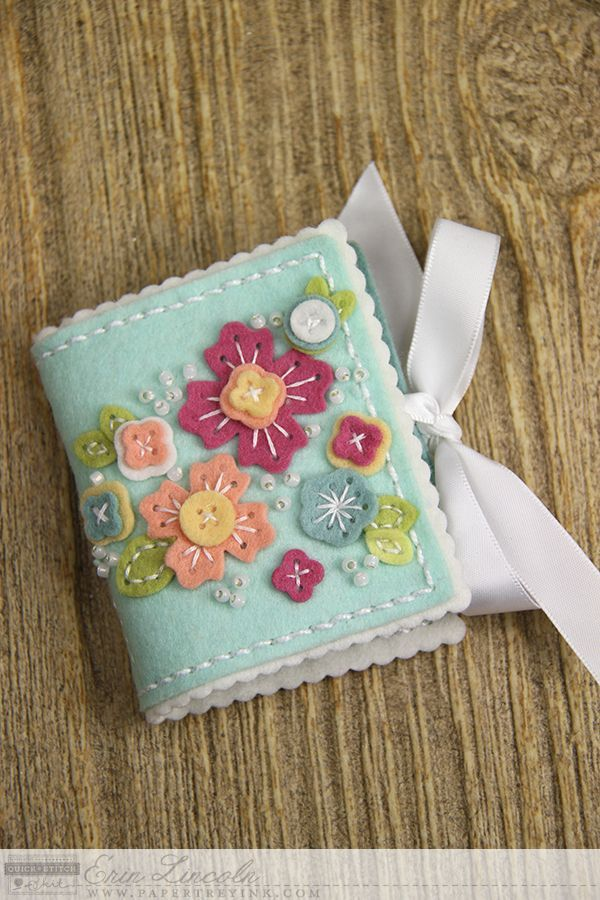 Floral Cluster Needle Book by Erin Lincoln for Papertrey Ink (February 2015)
