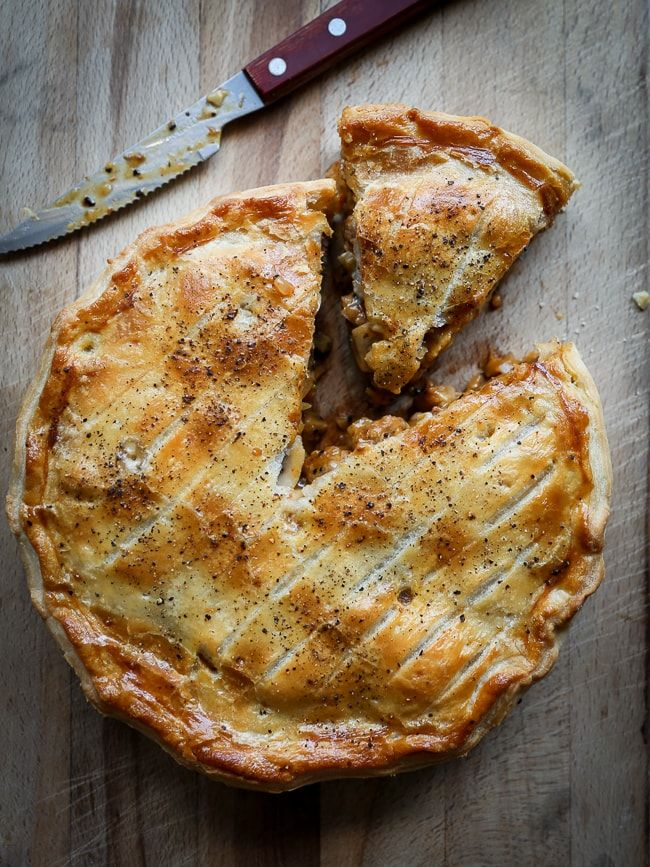 Ægte irsk pie med oksekød