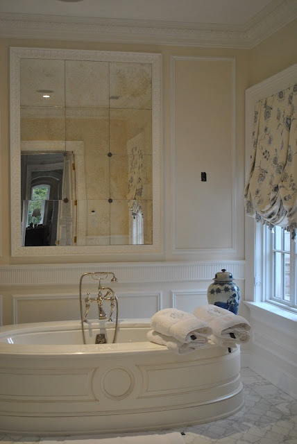 Love The Mirror Tub And Marblebeautiful Delightful Spot To Relax In