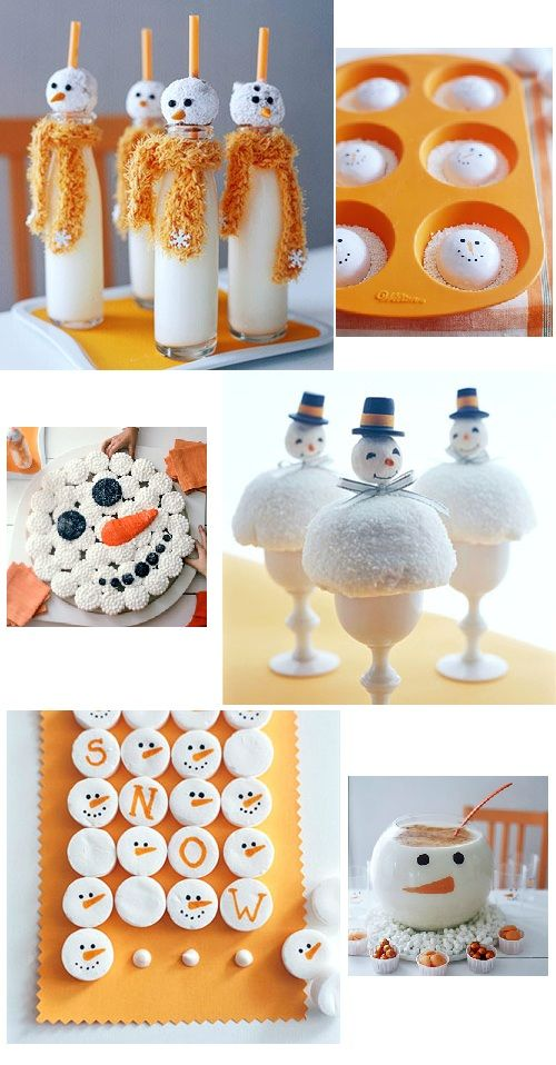 6 fabulous snowmen goodies! ... Love these!  If I wasn't so lazy, I'd do all of these this holiday season!