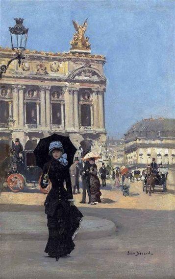 """Devant l'Opéra"", jean Béraud, XIXème"