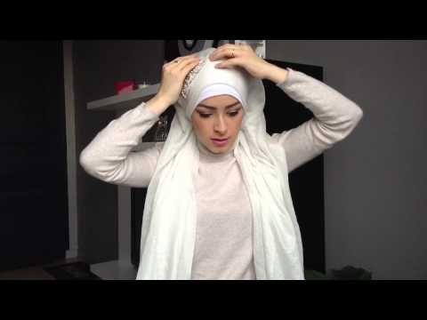 ▶ Tutoriel Hijab Simple pour Mariée / Simple bridal Hijab tutorial - YouTube