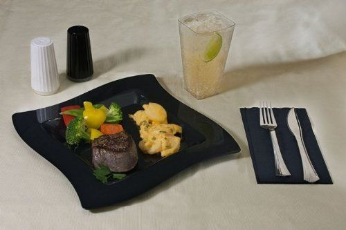 Fineline Settings 109-BK Wavetrends 9.5 in. Black Dinner Plate 120 Pieces by Fineline Settings. $79.99. GREAT FOR DINNER. THE ABOVE PICTURE IN BLACK. HIGH QUALITY. Fineline Settings offers a comprehensive assortment of plastic party and catering tableware. Their designs range from classic to contemporary and the products establish tomorrow's trends in today's market. A decade of experience in the disposable tableware industry ensures they know just what the custom...