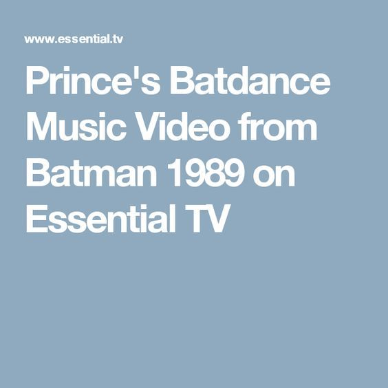 Prince's Batdance Music Video from Batman 1989 on Essential TV
