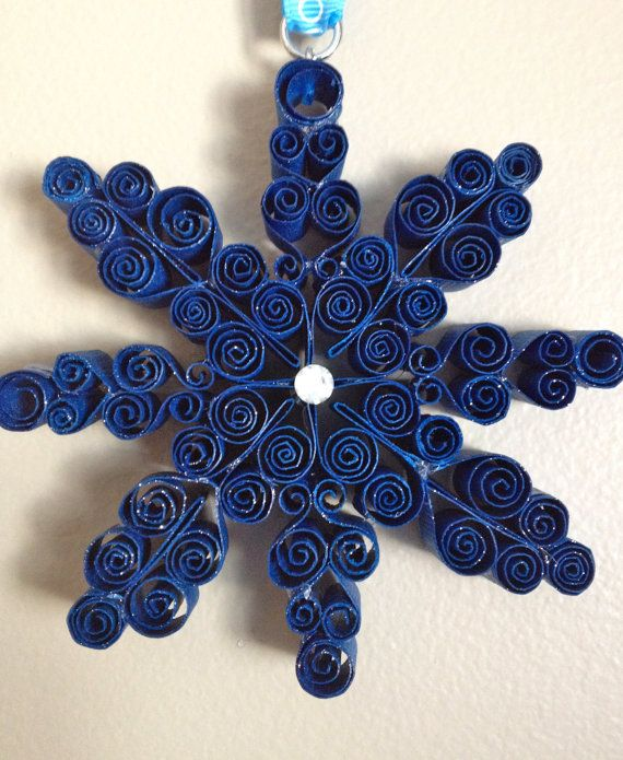 Quilled Snowflake Ornament by KiVeRo on Etsy, $20.00