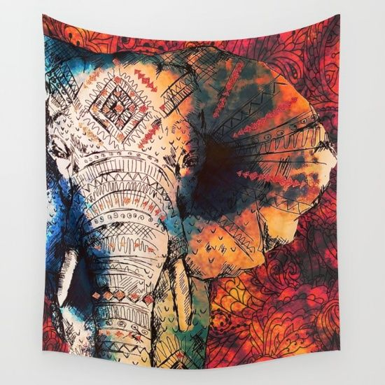 Buy Indian Sketched Elephant Wall Tapestry by Inspired Images. Worldwide shipping available at Society6.com. Just one of millions of high quality products available.