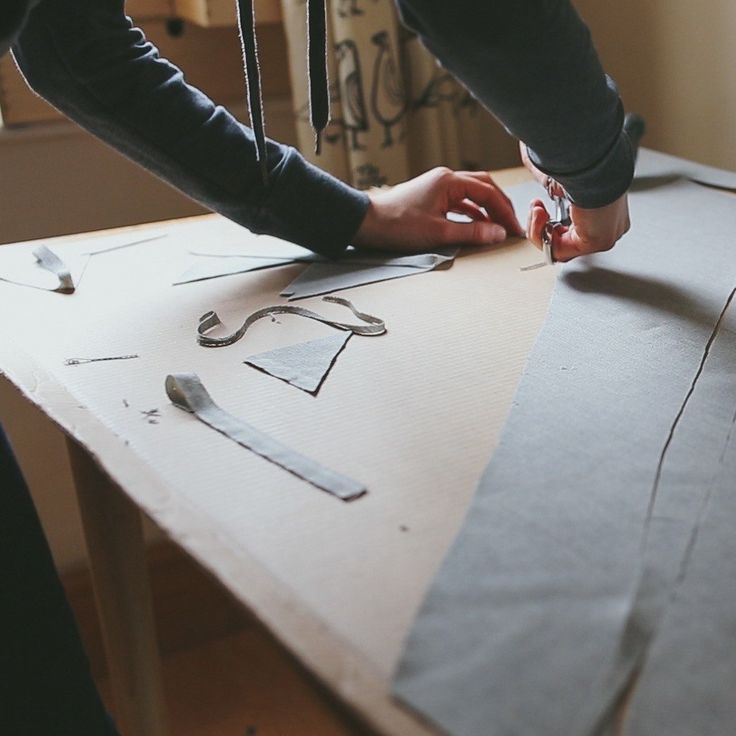 Just working on some more light solid gray wool neckties - the perfect tie for an understated and classic look.