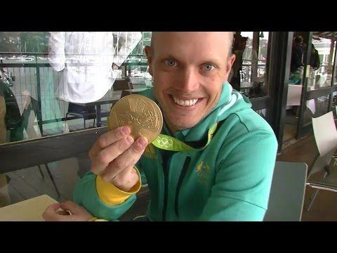 Australian Gold Medal Laser Sailor Tom Burton Tells How He Won the Medal race in Rio - YouTube