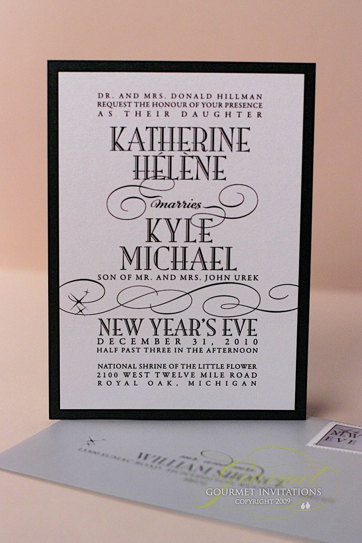 Kathryn Kyle New Years Eve Wedding