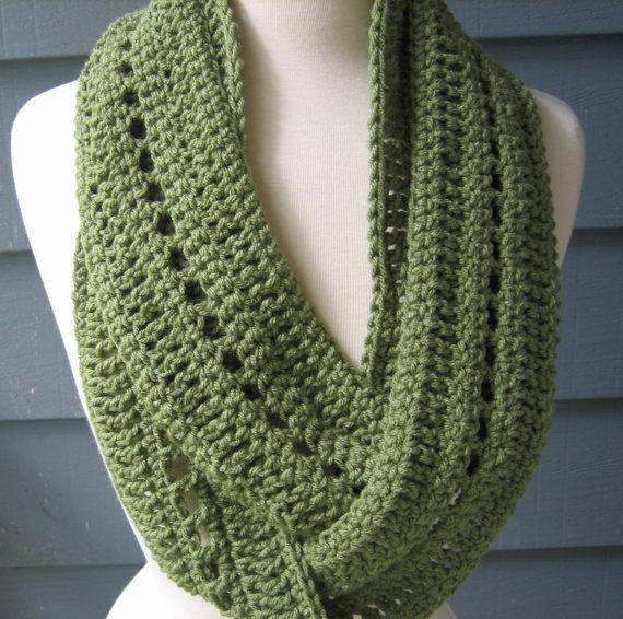 Free Crochet Infinity Scarf Pattern | Crochet PATTERN pdf Phoebe Infinity Scarf by ArtsyCrochet on Wanelo