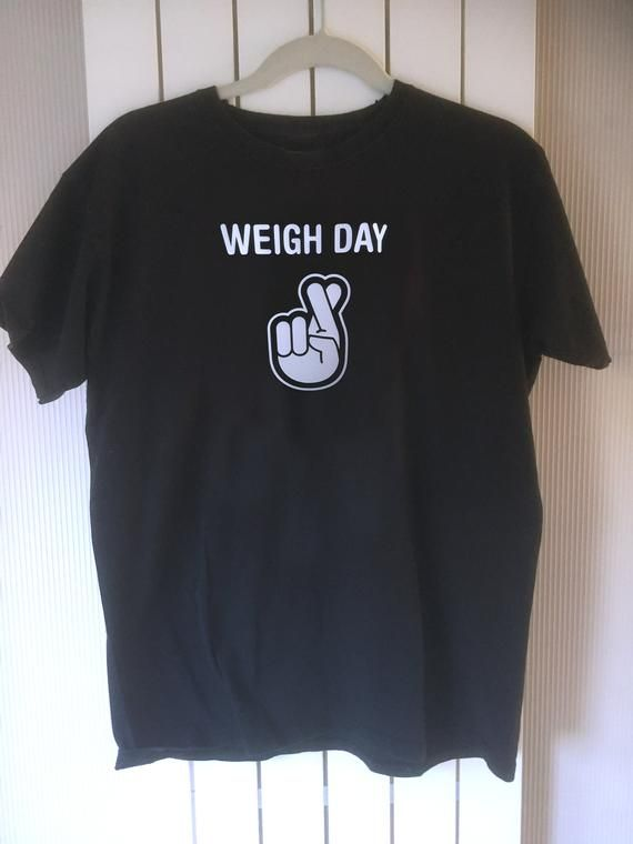 Slimming World Diet Lucky Top Weight Watchers Mens Black Weigh Day T-Shirt