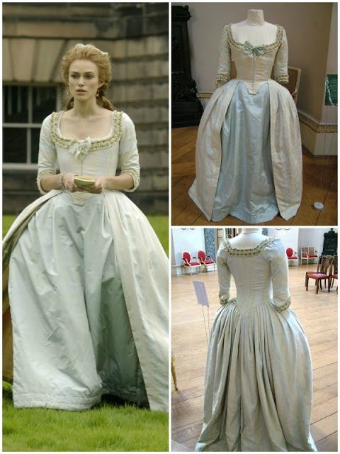 Keira Knightley costume in 'The Duchess', 2008. Late 18th Century Georgian costumes by Michael O'Connor.
