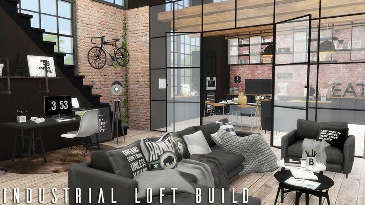 The Sims 4: Industrial Loft + CC LINKS | BUILD - YouTube