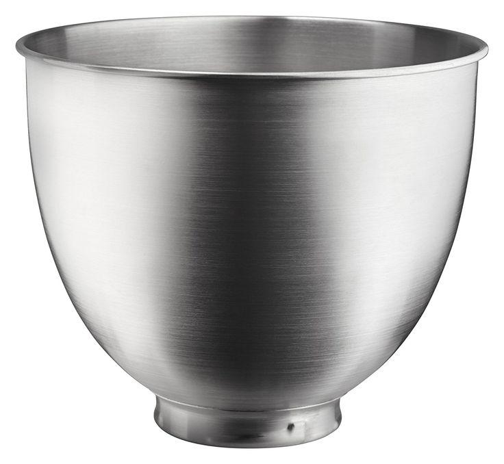 Brushed Stainless Steel Bowl Matches Nicely With The Metallic Finish Of  Contour Silver Artisan Mini. Kitchenaid ArtisanKitchenaid MixerStand ...