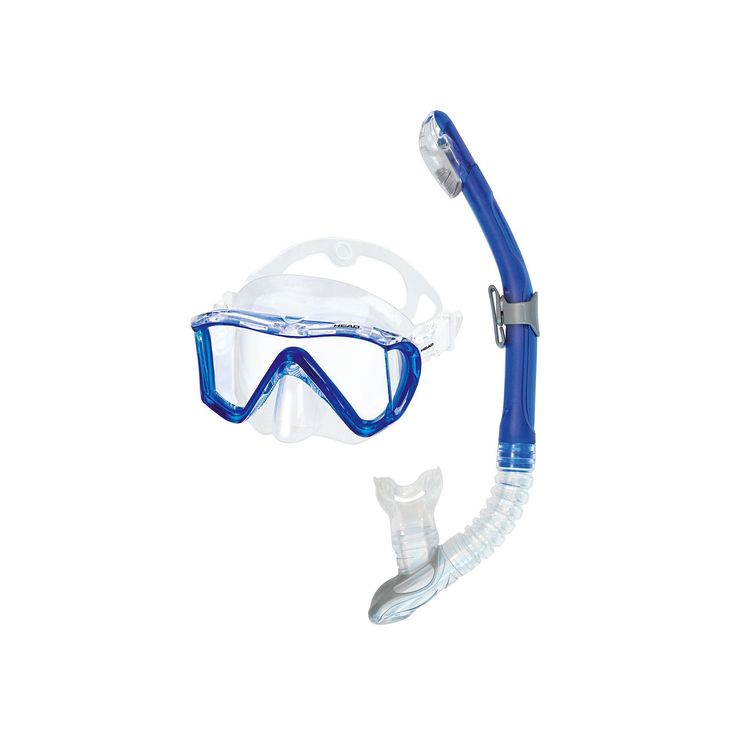 Head 2-pc. Manta Marlin Dry Snorkel Set, Blue