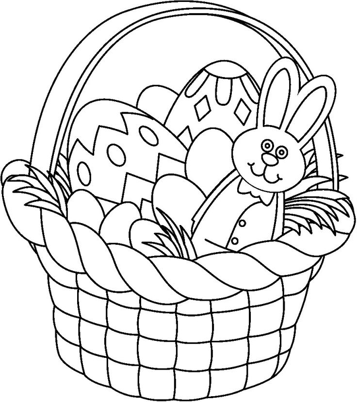 Best Spring Coloring Pages Images On Pinterest Coloring - Spring basket coloring page