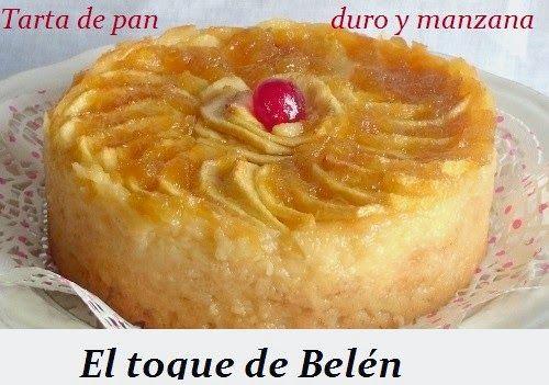 TARTA DE PAN DURO Y MANZANA