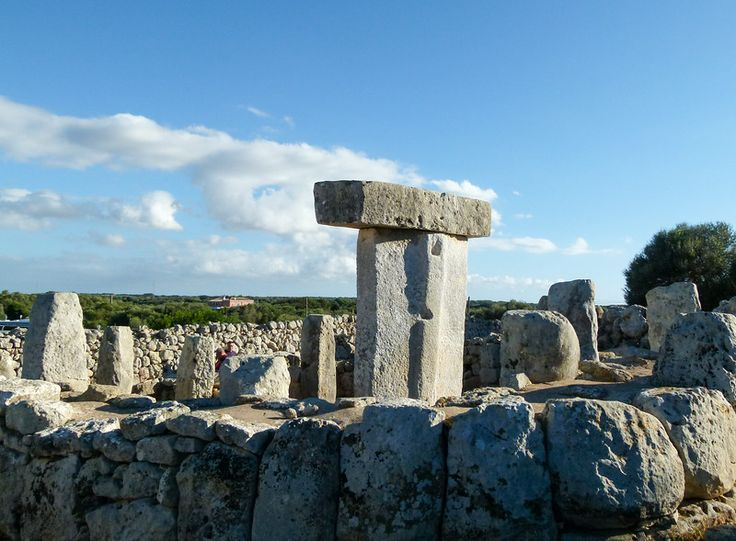 Talus in a circle of stones at Torralba D'en Salord on Menorca, Spain.