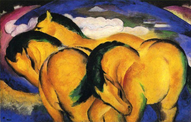 Франц Марк «Маленькие желтые лошади»