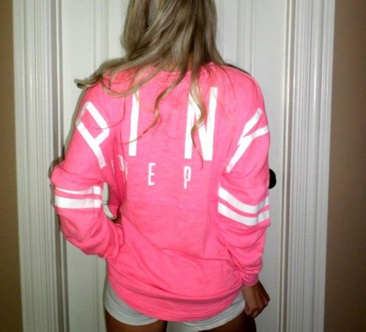 Pink by Victoria's Secret pink pullover loose sweatshirt crew euc sz M