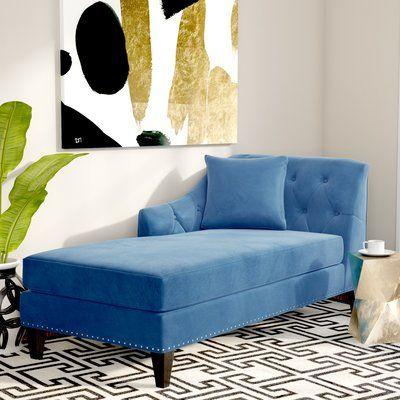 Macdonald Velvet Chaise Lounge Upholstery: Teal - http://delanico.com/chaise-lounges/macdonald-velvet-chaise-lounge-upholstery-teal-725782329/