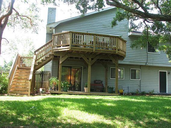 Wood Deck Elevation : Best images about high elevation decks on pinterest
