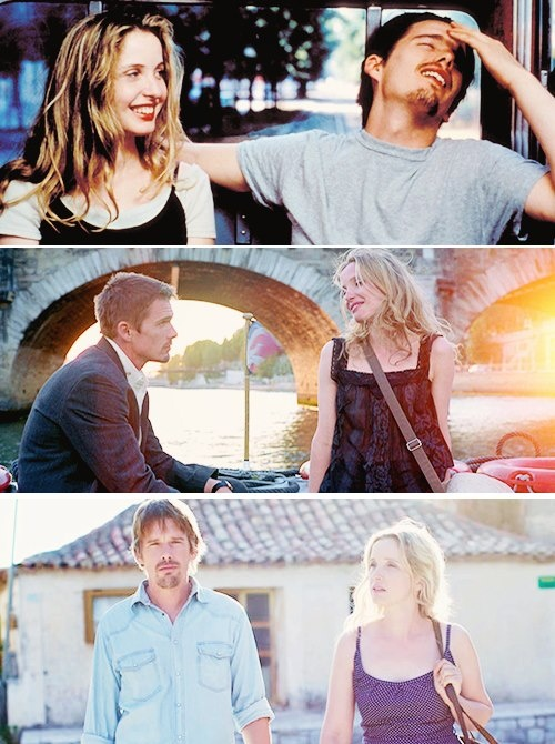 Before Sunrise(1995)/Before Sunset(2004)/Before Midnight(2013). I am so glad I finally saw these movies. The characters of Jesse and Celine are so rich and complex, and they have such amazing chemistry together.