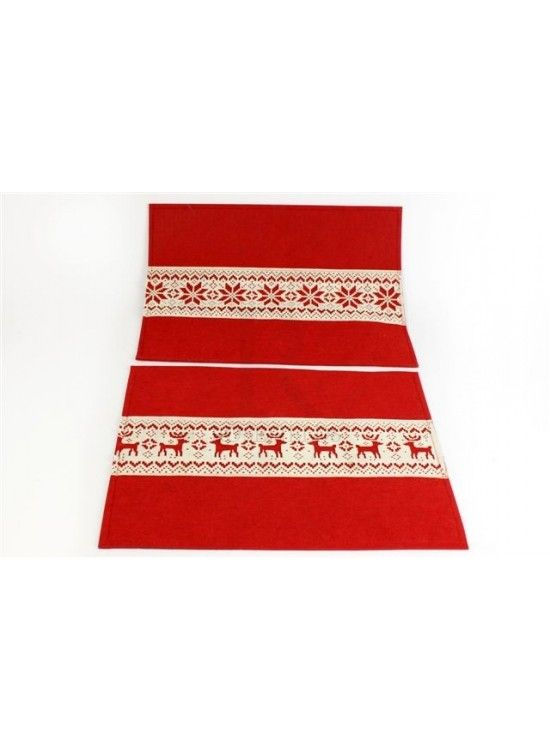Reindeer and Snowflake Felt Placemats -rosefields.co.uk