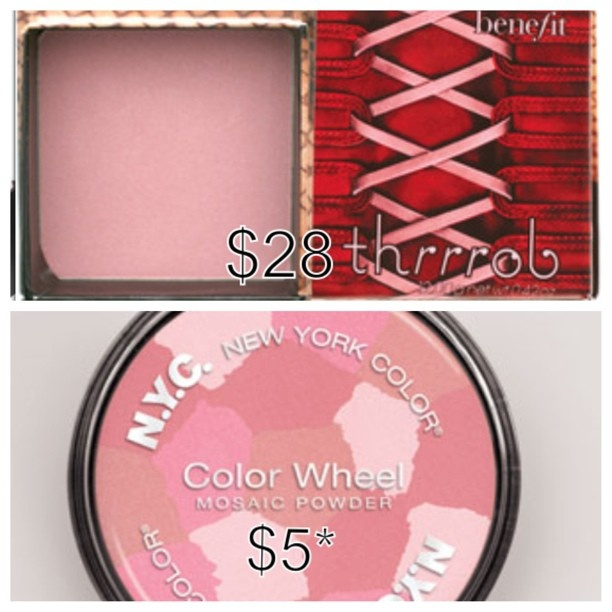 #dupes benefit cosmetics vs nyc blush