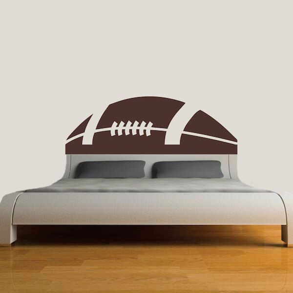 Football Headboard Decal, Bed Headboards, Bedroom Headboard Sports, Football Wall Decals, Football Theme Rooms, Football Room Decor, s87 by TrendyWallDesigns on Etsy https://www.etsy.com/listing/220462086/football-headboard-decal-bed-headboards
