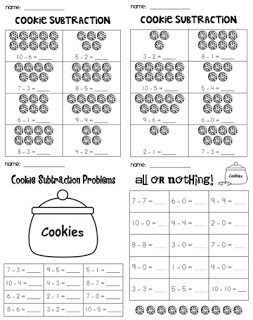 Cookie Addition & Subtraction within 10 (free!!)