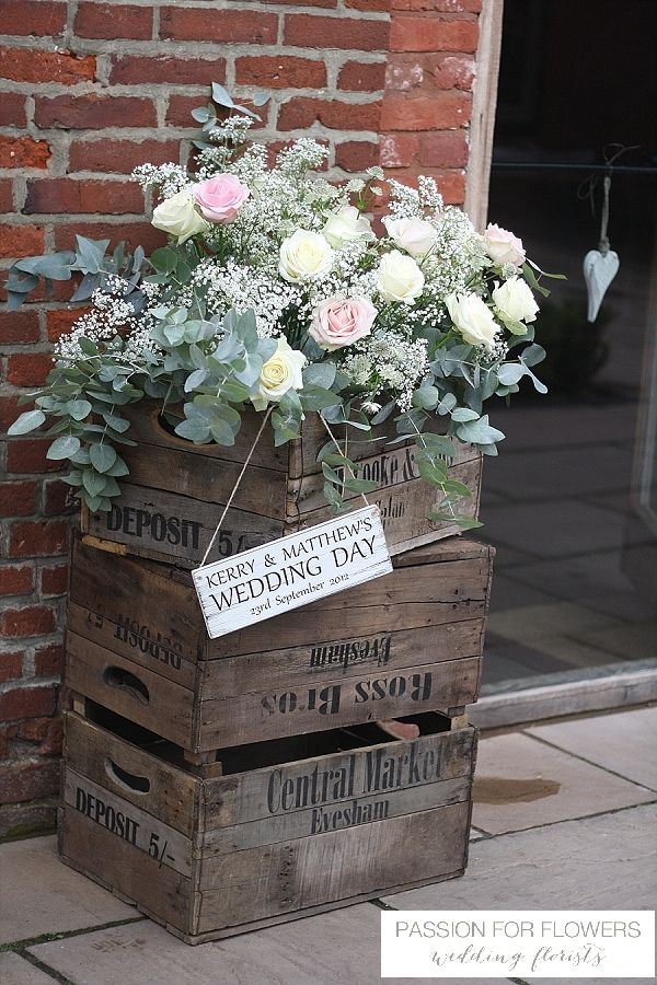 Packington Moor Rustic Wedding Flowers Crates