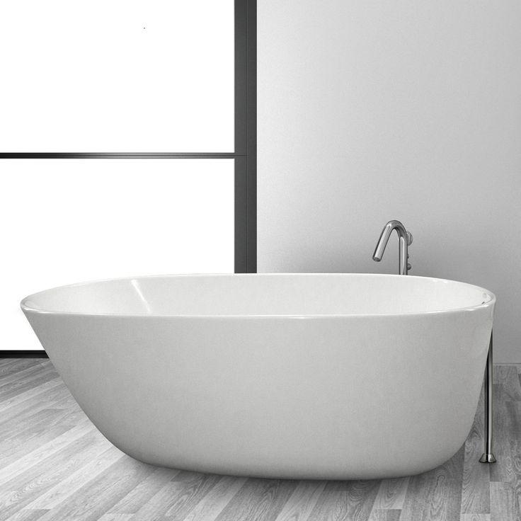"Daniela 58"" x 30"" Freestanding Soaking Bathtub"
