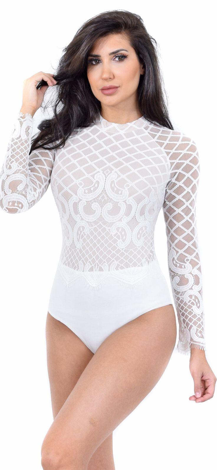 Vanessa White Lace Bodysuit                                                                                                                                                                                 More