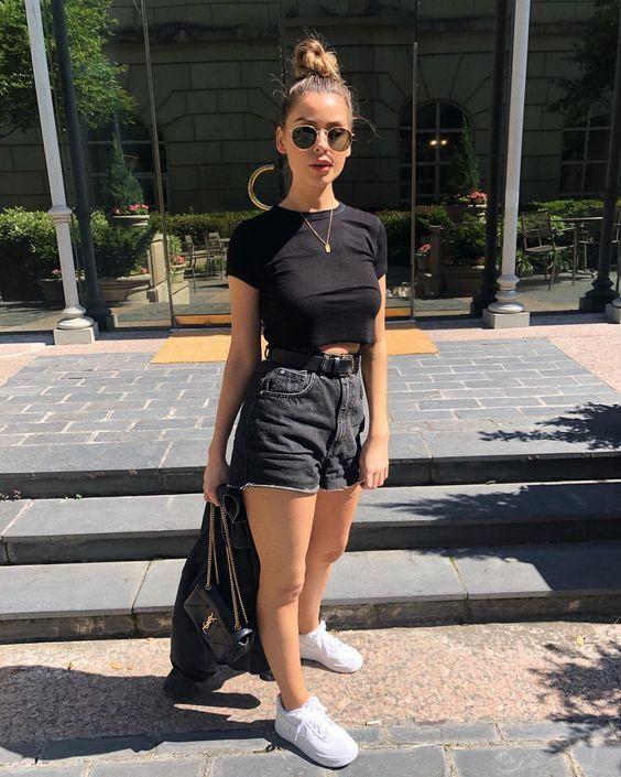 Dicas de como usar preto no verão ,  Sara