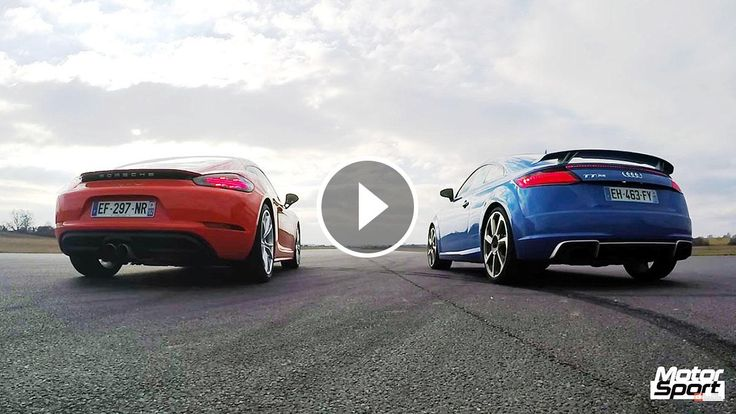 We are about to see a drag race between an Audi TT RS and Porsche 718 Cayman S.    The Audi is powered by a 2.5-liter turbocharged DOHC engine delivering 400 hp and 354 lb-ft of torque,