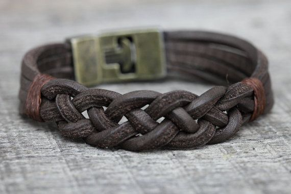 Mens BraceletGenuine leather bracelet Mens Jewelry Unisex