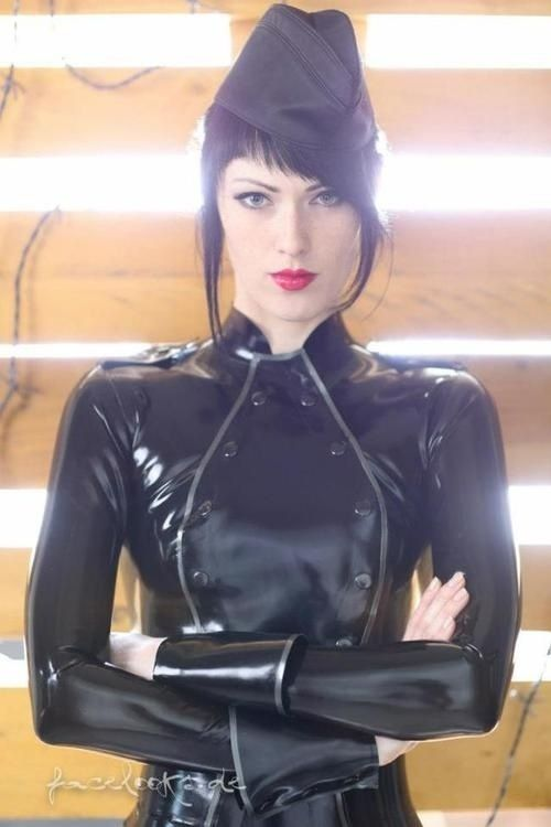 Future Girl, Futuristic Fashion, Fetish, Girl in Black, Military Style, Girl Power, Black Latex, Military Clothing, Military Girl, Goth Girl by FuturisticNews.com