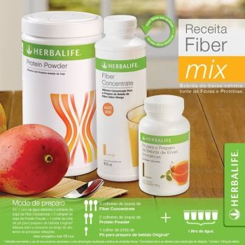Fiber Mix Herbalife - Receita do Belly Cruncher Seca Barriga