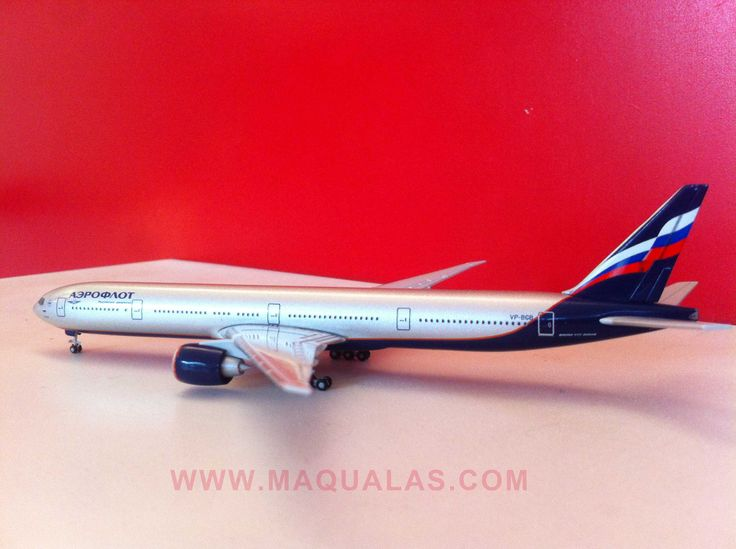 Boeing 777-300ER Aeroflot a escala 1;500 de Herpa