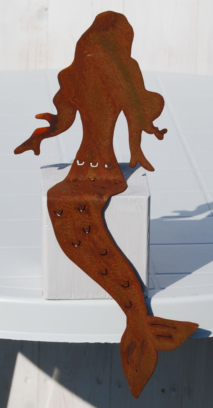 Wunderhübsche Meerjungfrau, Mermaid, Metall In Edler Rostoptik, Schöne Deko  Für Den Garten