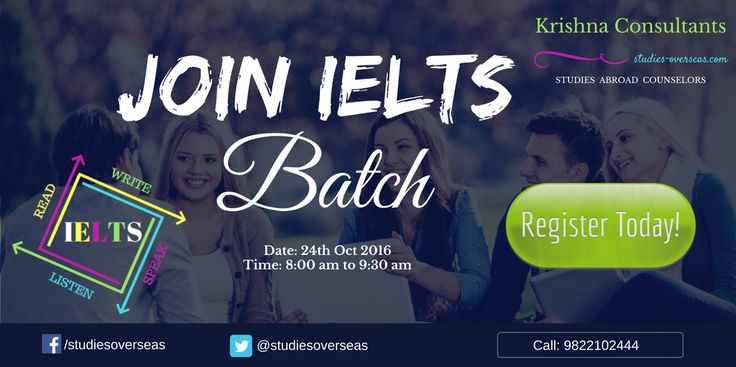 Join IELTS Coaching at Krishna Consultants Nagpur. Batch Starting on 24 OCT, 2016. Time: 8:00 am to 9:30 am.