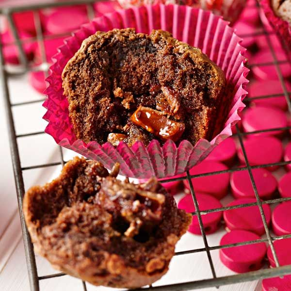 CADBURY Turkish Delight Muffins. Cadbury Dairy Milk Turkish Delight Chocolate gives these muffins a great flavour with a beaut surprise centre! {Cadbury Kitchen}