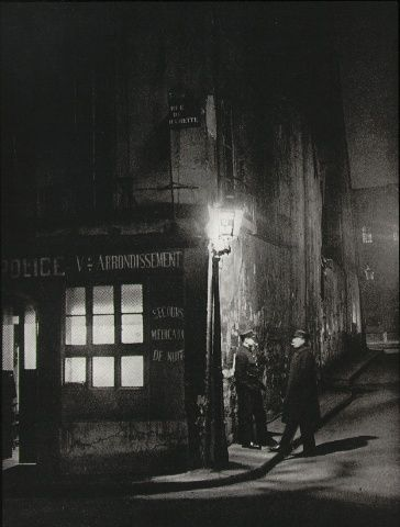 "Brassai (Gyula Halasz)  Oldest police station in Paris  From ""Paris by Night""  1933"