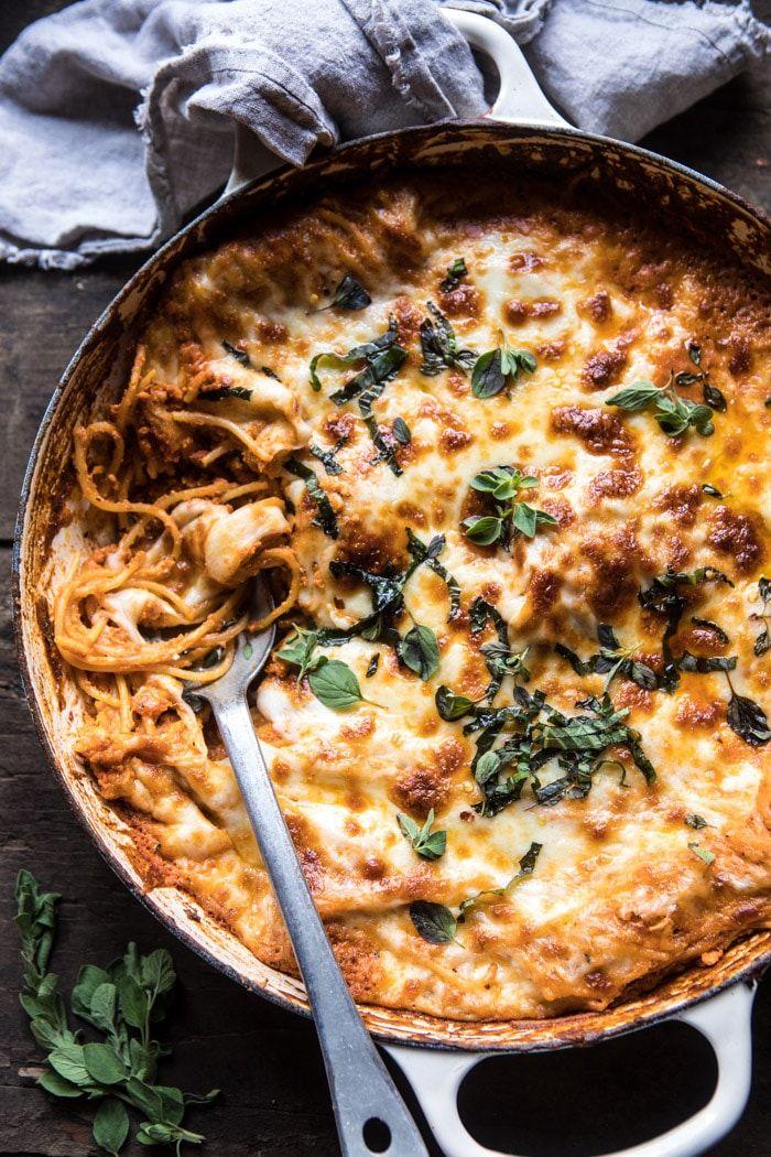 One-Pan Cheesy Spaghetti Pie | halfbakedharvest.com @hbharvest