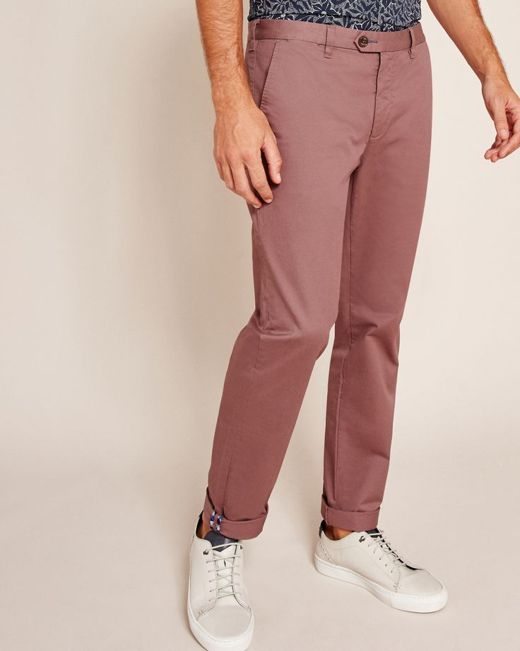Ted Baker Slim fit chinos Pink