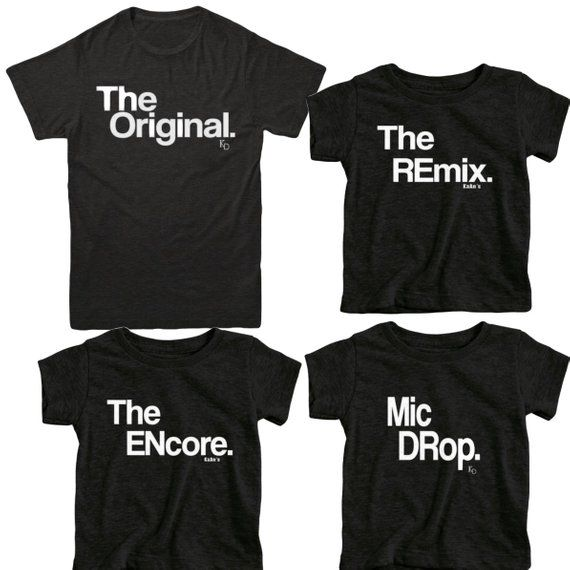 Family Set of 5   Coordinating T-shirts   Matching Tshirts for family of 5   New Baby Announcement   2nd Baby Announcement   3rd Baby   Last