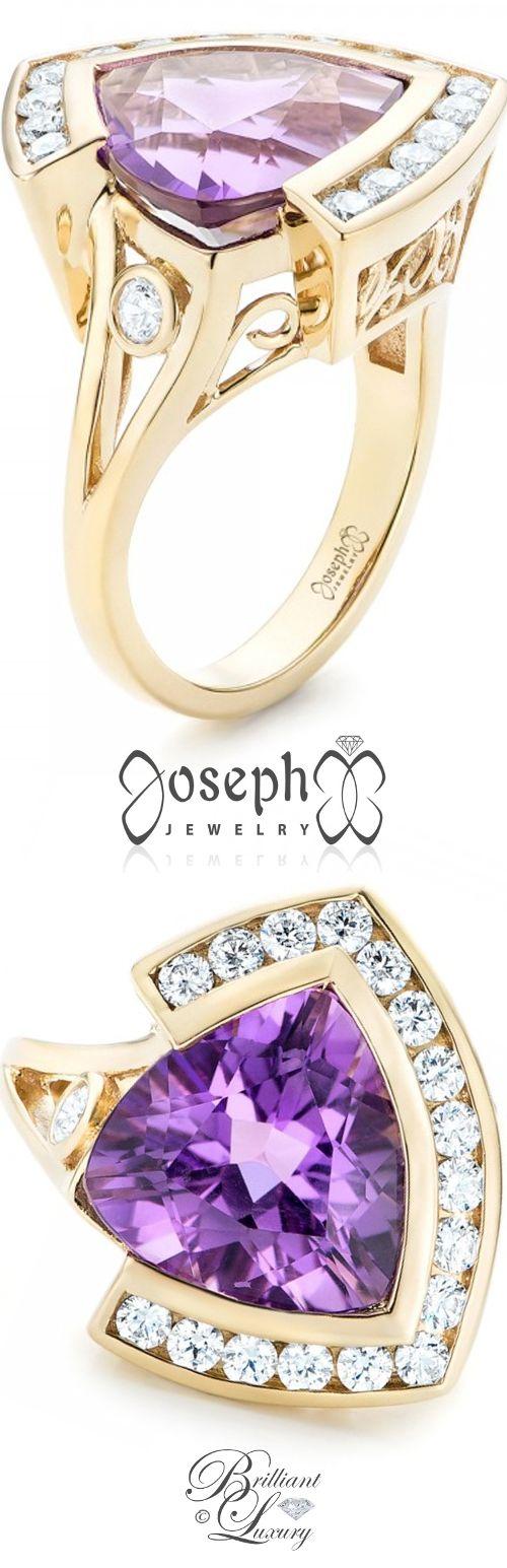 Brilliant Luxury by Emmy DE ♦Custom Amethyst and Diamond Fashion Ring