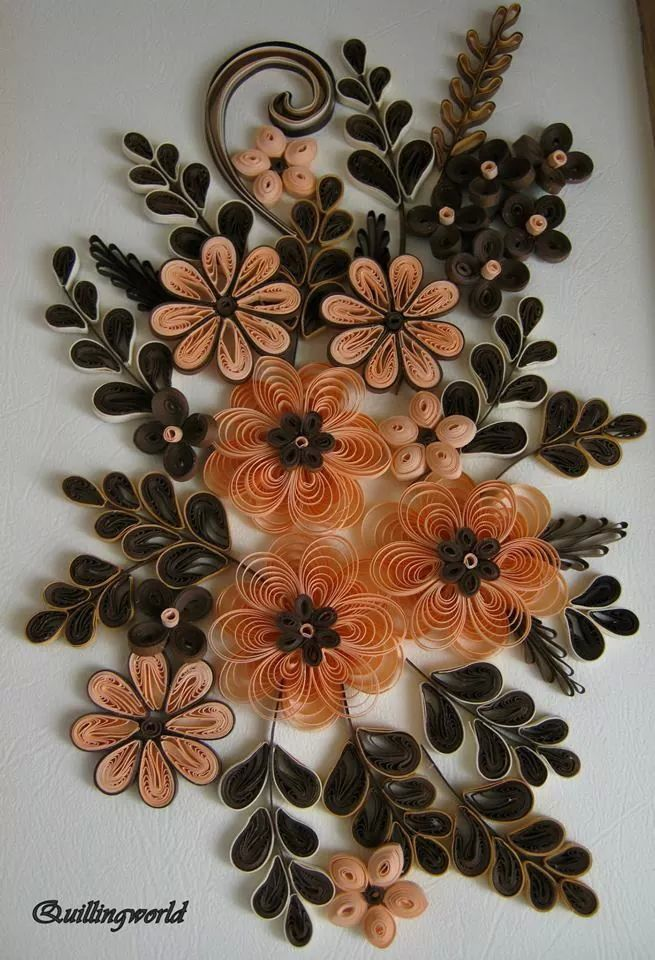 Floral Frame Quilled By Quillingworld Paper Quilling